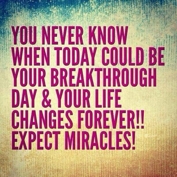 expect a miracle to inspire from within